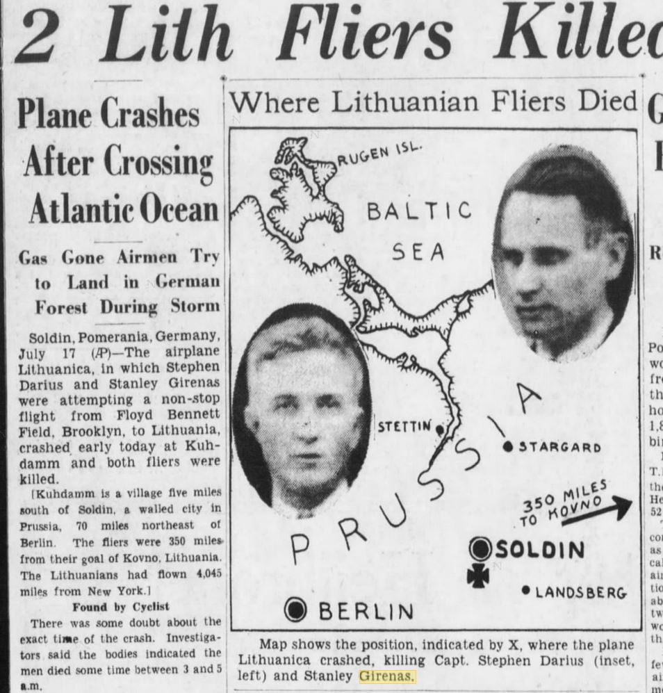 Brooklyn Daily Eagle, Page 1; July 17, 1933.