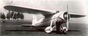 Vaitkus and his Lockheed Vega Source: Lietuvos Aviacijos Istorija 1919 - 1940 m.